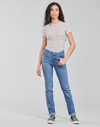 Oblačila Ženske Jeans straight Levi's 724 HIGH RISE STRAIGHT Modra