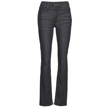 Oblačila Ženske Jeans straight Levi's 725 HIGH RISE STRAIGHT Črna