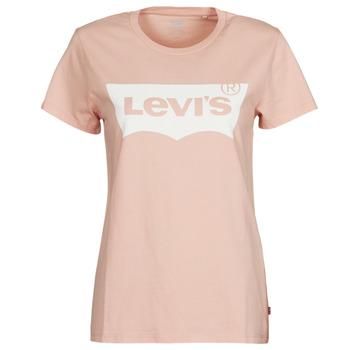 Oblačila Ženske Majice s kratkimi rokavi Levi's THE PERFECT TEE Rožnata