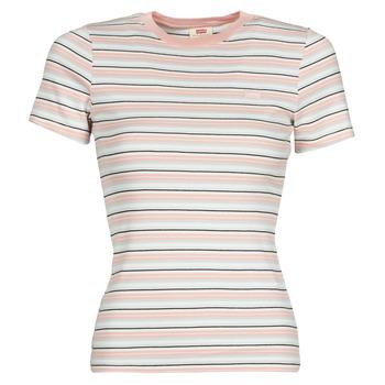 Oblačila Ženske Majice s kratkimi rokavi Levi's SS RIB BABY TEE Večbarvna