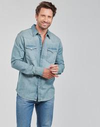 Oblačila Moški Srajce z dolgimi rokavi Levi's BARSTOW WESTERN STANDARD Modra