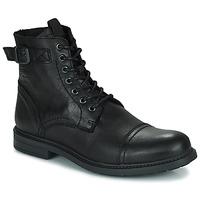 Čevlji  Moški Polškornji Jack & Jones JFW SHELBY LEATHER Črna