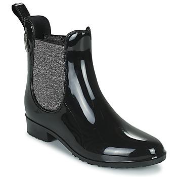 Čevlji  Ženske škornji za dež  Les Tropéziennes par M Belarbi RAINBOO Črna / Srebrna