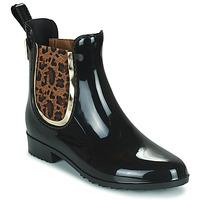 Čevlji  Ženske škornji za dež  Les Tropéziennes par M Belarbi RAINBOO Črna