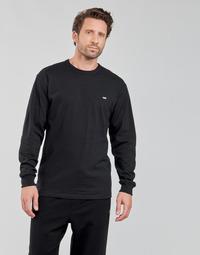 Oblačila Moški Majice z dolgimi rokavi Vans OFF THE WALL CLASSIC LS Črna