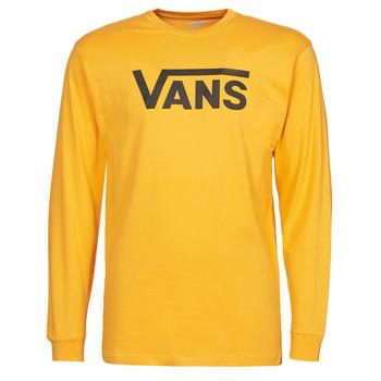 Oblačila Moški Majice z dolgimi rokavi Vans VANS CLASSIC LS Rumena / Črna