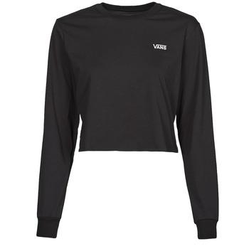 Oblačila Ženske Majice z dolgimi rokavi Vans JUNIOR V LS CROP Črna