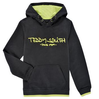 Oblačila Dečki Puloverji Teddy Smith SICLASS HOODY Črna