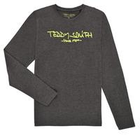 Oblačila Dečki Majice z dolgimi rokavi Teddy Smith TICLASS3 ML Siva