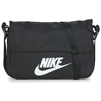 Torbice Torbe za čez ramo Nike NIKE SPORTSWEAR Črna / Bela