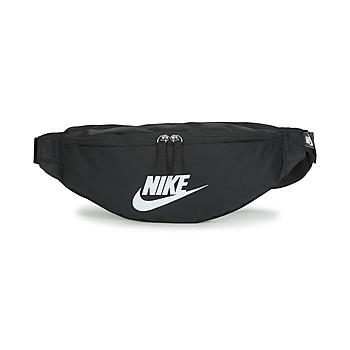 Torbice Torbice za okrog pasu Nike NK HERITAGE WAISTPACK - FA22 Črna / Bela