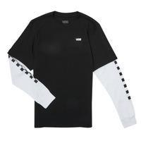 Oblačila Dečki Majice z dolgimi rokavi Vans LONG CHECK TWOFER Črna