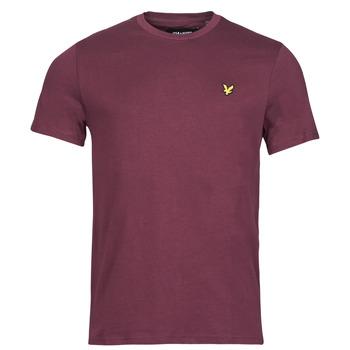 Oblačila Moški Majice s kratkimi rokavi Lyle & Scott ROBINA Bordo