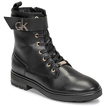 Čevlji  Ženske Gležnjarji Calvin Klein Jeans CLEAT BIKER BOOT Črna