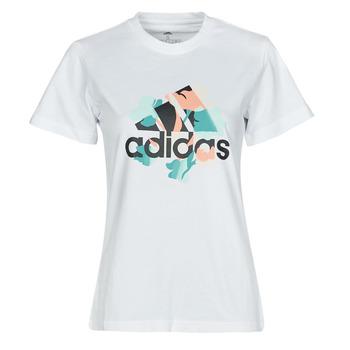 Oblačila Ženske Majice s kratkimi rokavi adidas Performance FLORAL GFX Bela
