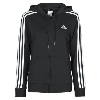 Oblačila Ženske Puloverji adidas Performance W 3S FT FZ HD Črna