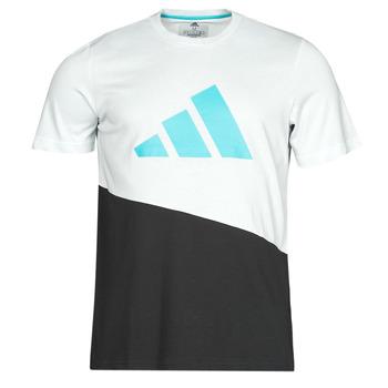 Oblačila Moški Majice s kratkimi rokavi adidas Performance FUTURE BLK TEE Bela / Křišťál