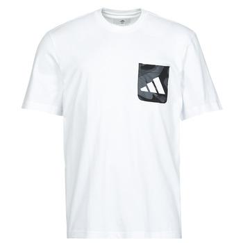 Oblačila Moški Majice s kratkimi rokavi adidas Performance CAMO PKT TEE Bela
