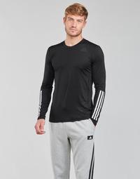 Oblačila Moški Majice z dolgimi rokavi adidas Performance TF LS FT 3S Črna