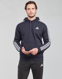 Oblačila Moški Puloverji adidas Performance M 3S FL HD Inkoust / Légende