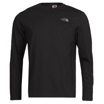 Oblačila Moški Majice z dolgimi rokavi The North Face L/S EASY TEE Črna