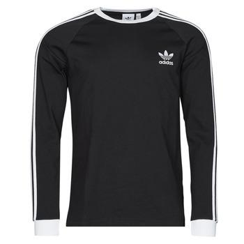 Oblačila Moški Majice z dolgimi rokavi adidas Originals 3-STRIPES LS T Črna