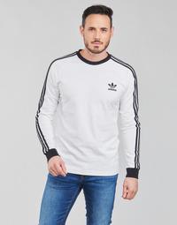 Oblačila Moški Majice z dolgimi rokavi adidas Originals 3-STRIPES LS T Bela