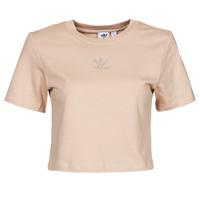 Oblačila Ženske Majice s kratkimi rokavi adidas Originals CROPPED  TEE Bež