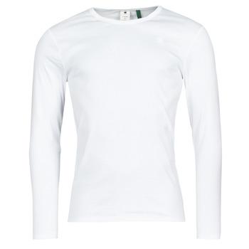 Oblačila Moški Majice z dolgimi rokavi G-Star Raw BASE R T LS 1-PACK Bela