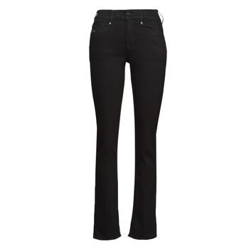 Oblačila Ženske Jeans straight G-Star Raw NOXER STRAIGHT Črna