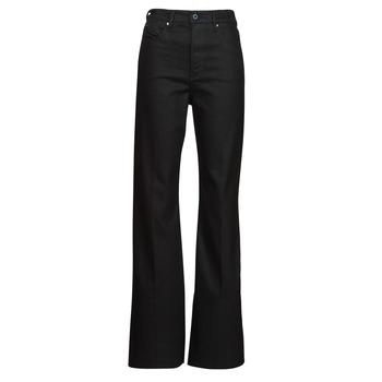 Oblačila Ženske Kavbojke bootcut G-Star Raw DECK ULTRA HIGH WIDE LEG Črna
