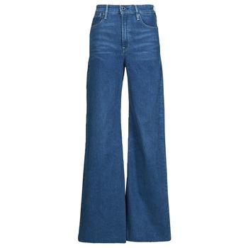 Oblačila Ženske Kavbojke bootcut G-Star Raw DECK ULTRA HIGH WIDE LEG Modra