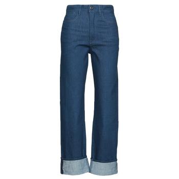 Oblačila Ženske Jeans straight G-Star Raw TEDIE ULTRA HIGH STRAIGHT Modra