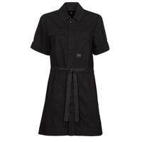 Oblačila Ženske Kratke obleke G-Star Raw ARMY DRESS SHORT SLEEVE Črna