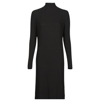 Oblačila Ženske Dolge obleke G-Star Raw RIB MOCK SLIM DRESS Črna