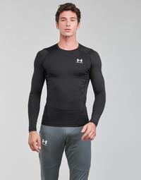 Oblačila Moški Majice z dolgimi rokavi Under Armour UA HG ARMOUR COMP LS Črna / Bela