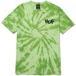 Oblačila Moški Majice & Polo majice Huf T-shirt haze brush tie dye ss Zelena