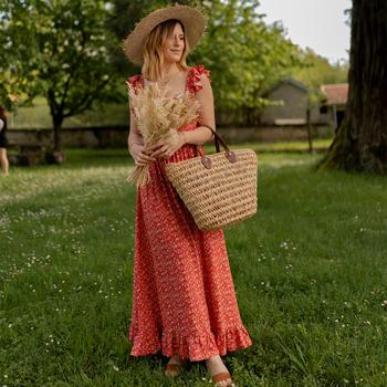 Oblačila Ženske Dolge obleke Céleste AURORE version courte Rdeča