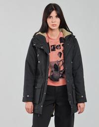 Oblačila Ženske Parke Volcom WALK ON BY 5K PARKA Črna