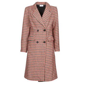 Oblačila Ženske Plašči Betty London PIVENE Črna / Rdeča