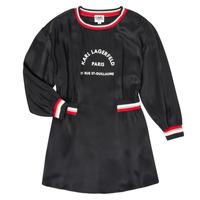 Oblačila Deklice Kratke obleke Karl Lagerfeld RUBIS Črna