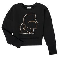 Oblačila Deklice Puloverji Karl Lagerfeld CORNALINE Črna
