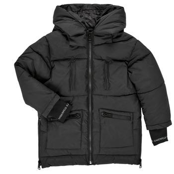 Oblačila Deklice Puhovke Karl Lagerfeld DIAMANT NOIR Črna