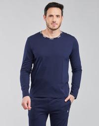Oblačila Moški Majice z dolgimi rokavi Polo Ralph Lauren CREEW SLEEP TOP Modra