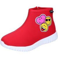 Čevlji  Deklice Gležnjarji Smiley  Rdeča