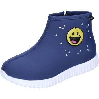 Čevlji  Deklice Gležnjarji Smiley  Modra