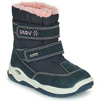 Čevlji  Dečki Škornji za sneg Citrouille et Compagnie POUDOU Modra / Rožnata