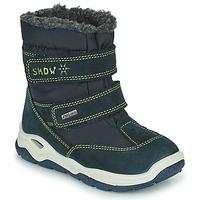 Čevlji  Deklice Škornji za sneg Citrouille et Compagnie POUDOU Modra / Zelena