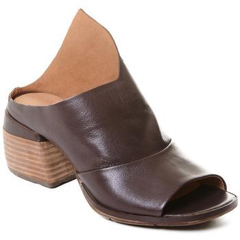 Čevlji  Ženske Gležnjarji Rebecca White T0403  Rebecca White  D??msk?? mokas??ny z telec?? k??e v k??vov?? bar