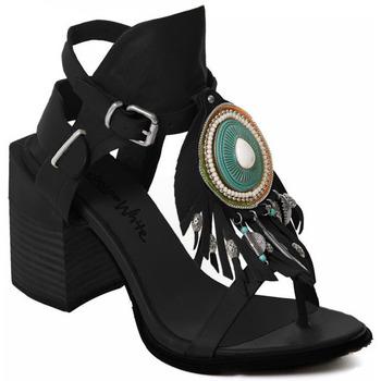 Čevlji  Ženske Salonarji Rebecca White T0509  Rebecca White  D??msk?? sand??ly na vysok??m podpatku z ?ern??